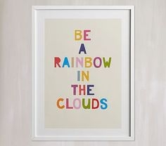 Rainbow In A Cloud Wall Art By Minted® | Pottery Barn Kids