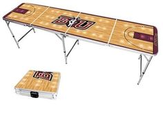 Bloomsburg Huskies Basketball Court Portable Folding Table