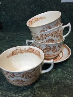 A personal favorite from my Etsy shop https://www.etsy.com/listing/263270615/furnivals-quail-cups-and-saucer-rn684771
