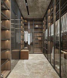 Luxury Closet Ideas Walk In Closet Design Dressing Room Walk In Closet Design, Bedroom Closet Design, Closet Designs, Walking Closet, Walking Wardrobe Ideas, Home Design Decor, Home Interior Design, Design Ideas, Design Interiors