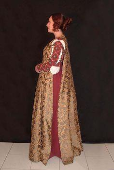 Florentine gown inspired by Domenico Ghirlandaio's paintings, 15th century