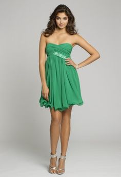 Homecoming Dresses - Strapless Dress with Wire Hem and Tie Back from Camille La Vie and Group USA