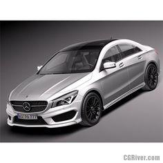 Mercedes-Benz CLA-class AMG 2014 - 3D Model