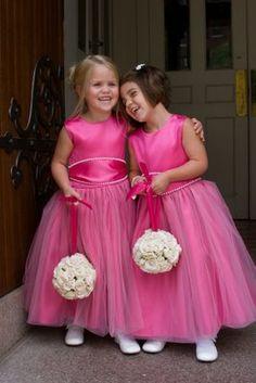 sisters floral design studio: Hot Pink and Black Wedding