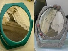 How to Decorate a Mirror Hi guys/gals! How to Decorate a Mirror is a video to show make a Creative Crafts, that is to make redecorate mirror. This Creative C. Creative Crafts, Fun Crafts, Arts And Crafts, Old Mirrors, Needlework, Recycling, Watch, Cool Stuff, Youtube