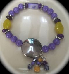 Beaded Shades of Color Stretch Bracelet