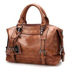 Bagail Women Vintage Boston Handbag Shoulder Bag Crossbody Bag For Women, Hangbags Source by lauriebunde Bags handbags Large Handbags, Purses And Handbags, Leather Handbags, Leather Bags, Tote Handbags, Luxury Handbags, Fashion Handbags, Mochila Nike, Shopper Bag