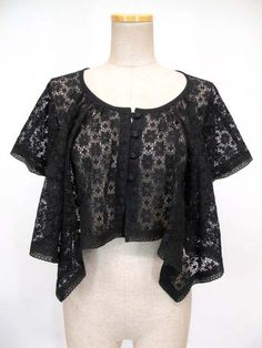 EXCENTRIQUE - lace bolero- black