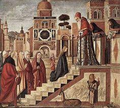 La presentazione della Maria Vergine al tempio di Gerusalemme è un dipinto di Carpaccio risalente agli anni compresi tra il 1502 e 1508. La tecnica utilizzata è quella della tempera su tela e proviene dalla scuola di Santa Maria degli Albanesi,mentre ora è conservato alla Pinacoteca di Brera a Milano.