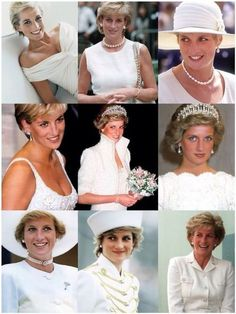 Princess Diana - all in white.