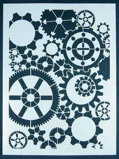 steampunk+stencils | Steampunk Gear Stencil