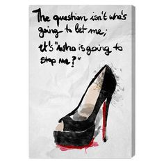Love this 'Who's Going to Stop Me' Canvas Wall Art by Oliver Gal on Live Your Truth, Thing 1, Oliver Gal, Wall Canvas, Canvas Art, Wall Art, Wall Decor, Framed Art, Bedroom Decor