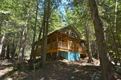 Opening a secluded lodge was their life-long dream! However, when they settled… British Columbia, Playground, Dutch, Tourism, Canada, Cabin, Rustic, House Styles, Building