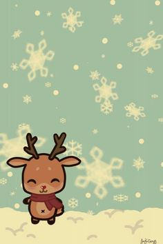 Rudolf The Red Nose Cute Christmas WallpaperXmas