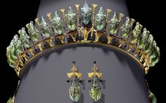 Lady Granville's Beetle tiara and earrings