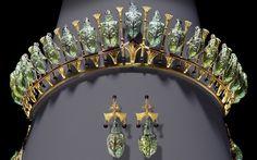 Lady Granville's Beetle tiara and earrings