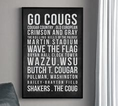 WSU COUGARS Subway Poster by HENANDCO on Etsy---- UGH I want this SO badly!