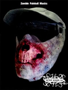 Zombob's Zombie News and Reviews: Take a look at these Zombie Face Paintball Masks!