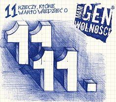 """Święto Niepodległości / """"11 rzeczy, które warto wiedzieć o 11.11"""" do bezpłatnego pobrania na genwolnosci.pl Projekt: Studio Zakład, www.zaklad.pl"""