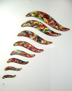 Kunstgalerie-Winkler-Acrylmalerei-Holz-Mobile-Windspiel-mit-Kristall-Neu