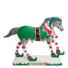 trail of painted ponies figurines | Trail Of The Painted Ponies Bells 'N' Elves Pony Figurine