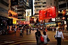 Downtown Hong Kong in a summer twilight [OC] [4641  3074]