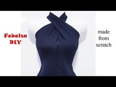 How to make Halter Twist Neck Design – May áo cổ yếm xoắn – dressideas Baby Girl Dress Patterns, Dress Sewing Patterns, Blouse Pattern Free, Couture, Stitching Dresses, Dress Neck Designs, Diy Dress, Fashion Sewing, Pattern Fashion