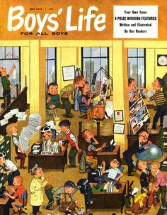 Boys' Life  Illustrated by Lowell Hess  May 1954