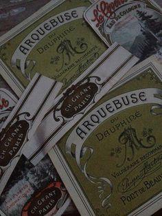 Vintage French labels  FleaingFrance.com