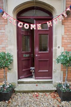 welcome home bunting