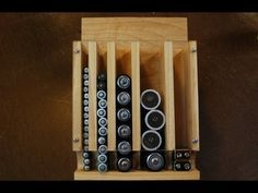 How to make a battery organizer.  This easy woodworking project can easily be completed in an afternoon.  To see more info on this video and links to plans check out:  www.woodlogger.com