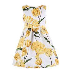 $9.44 (Buy here: https://alitems.com/g/1e8d114494ebda23ff8b16525dc3e8/?i=5&ulp=https%3A%2F%2Fwww.aliexpress.com%2Fitem%2FKids-Clothes-Girls-Party-Dress-2016-Tulip-Print-Princess-Dress-Girl-Clothes-Children-Costume-Kids-Autumn%2F32738719572.html ) Costume Princess Dress Christmas Kids Clothes 2016 Trending Autumn Winter Floral Tulip Print  Cotton Vestidos Children Dress for just $9.44