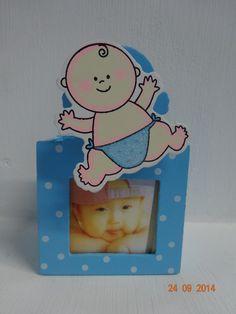 porta lapices con fotograf a para recordatorios de baby shower