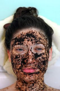 Coffee face mask: 3 tbs of used coffee grounds and a small glass of milk. Mix together into a paste, apply to face and leave on for 20 minutes. Then wash it off, pat your face dry, and apply moisturizer!