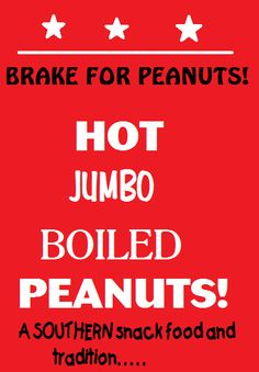 Boiled peanuts-The snack food of the South!