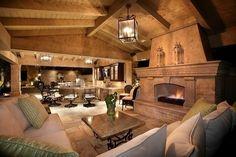 Outdoor bar & fireplace!
