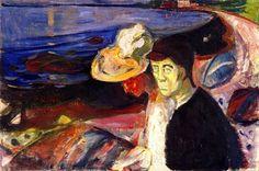 Edvard Munch : Man and Woman on the Beach - 1907
