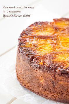 Cardamom and Caramelised Orange Upside Down Cake recipe   Delicious Everyday