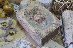 Шкатулка - книжка - розовый,шкатулка,шкатулка декупаж,шкатулка деревянная