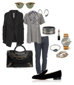"""Lazy day"" by cgraham1 on Polyvore featuring Tom Ford, Topshop, Todd Reed, Rick Owens, MAC Cosmetics, SPINELLI KILCOLLIN, Balenciaga, Gianvito Rossi, IWC Schaffhausen and Oliver Peoples"