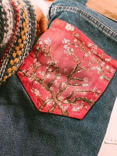 Vaquer de segona mà amb el quadre L'ametler, Van Gogh Van Gogh, Card Holder, Wallet, Cards, Rolodex, Maps, Playing Cards, Purses, Diy Wallet