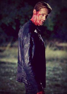 """Alexander Skarsgard as vampire Eric Northman in """"True Blood"""". Hemlock Grove, Serie True Blood, Slytherin, Gemini, Jeaniene Frost, Vampires And Werewolves, Eric Northman, Hbo Series, Alexander Skarsgard"""