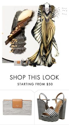 """""""Striped Dessert"""" by cowseatchard ❤ liked on Polyvore featuring FOSSIL and Chinese Laundry"""