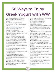 Plain, non fat Greek yogurt is a powerhouse of protein and nutrition. Learn how to enjoy plain Greek yogurt in a whole variety of new ways.