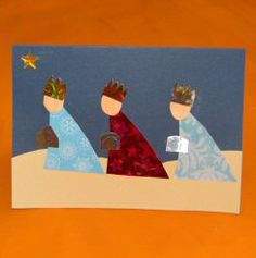 We Three Kings Christmas Card - Topmarks Education Christmas Family Feud, A Christmas Story, Christmas Art, Natural Christmas, Simple Christmas, Handmade Christmas, Christmas Decorations, Religious Christmas Cards, Christmas Cards To Make