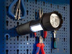 2in1 Taschen- und Arbeitsleuchte, 18+5 LEDs, ausziehbar, mit Magnet