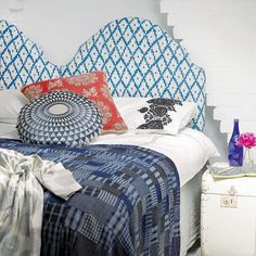 Ikat patterned bedroom | Bedroom decorating | housetohome.co.uk