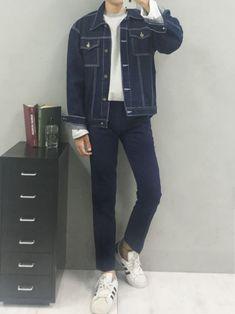 ?????? ????! #koreanfashion #korean #fashion #men Korean Fashion Men, Korean Men, Asian Fashion, Boy Fashion, Mens Fashion, Fashion Outfits, Jean Outfits, Boy Outfits, Evolution T Shirt