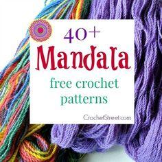 40+ Stunning Free Mandala #Crochet Patterns | CrochetStreet.com features the best crochet roundups! STOP searching and START making. #diy