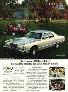 1978 Ford LTD - It could be just the car your family needs - Original Ad